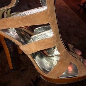Barbara Bui Suede Caged Heels